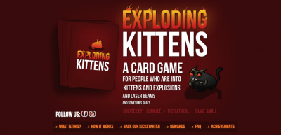 Exploding Kittens Claws Its Way Into Kickstarter History