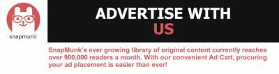Advertisewithus.SnapMunk'severgrowinglibraryoforiginalcontentcurrentlyreachesover,readersamonth.WithourconvenientAdCart,procuringyouradplacementiseasierthanever!