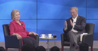 Hilary Clinton and Eric Schmidt The Groundwork