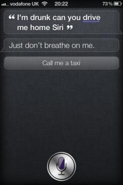 Siri Answer I'm Drunk