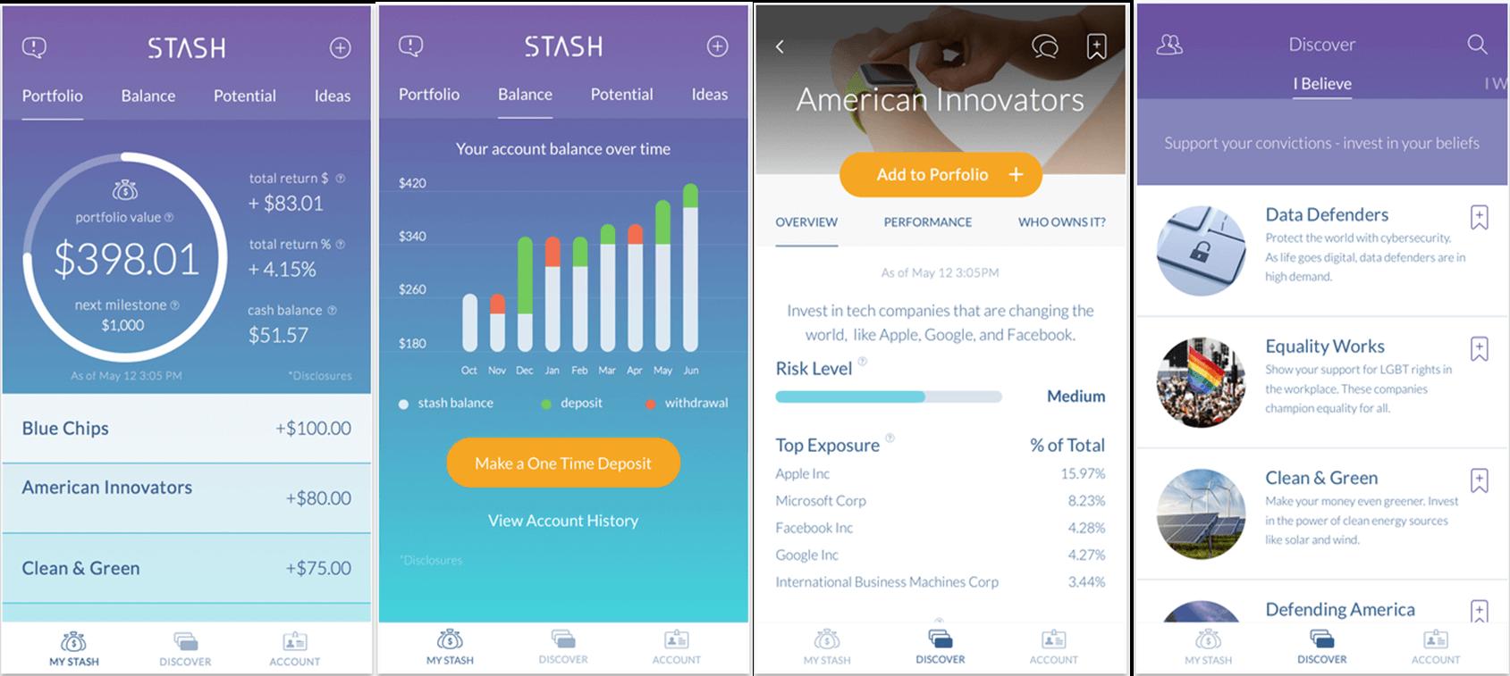 Stash cause-based investing app
