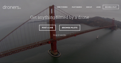 Get anything filmed by a drone    Droners io and Slack e