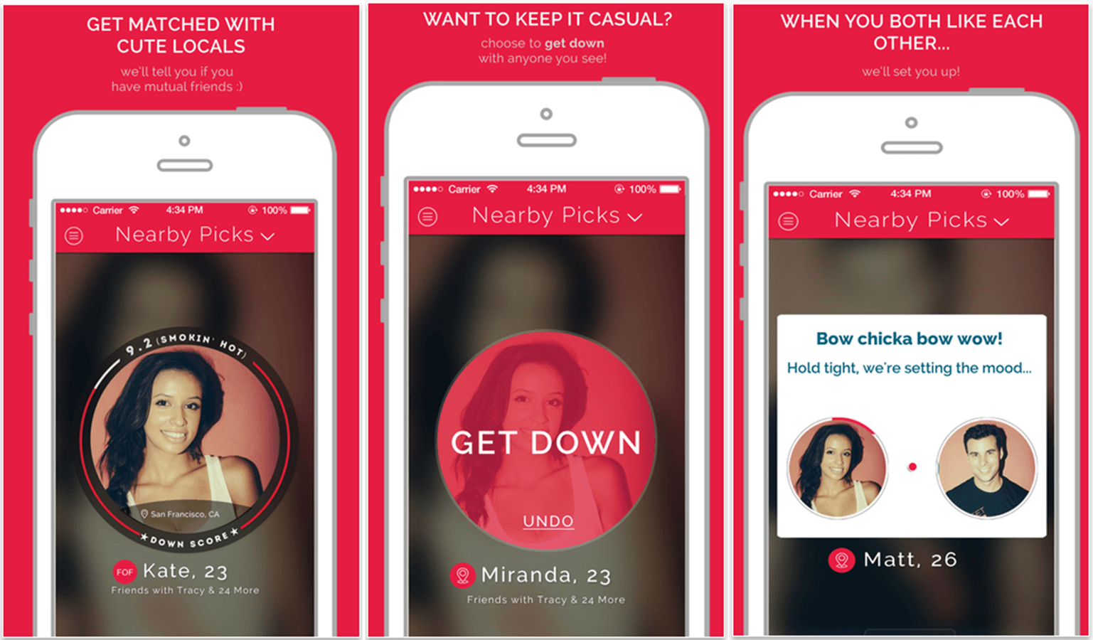Down Hookup App Screenshot SnapMunk