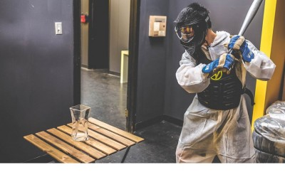 A rage room offered by cool offices