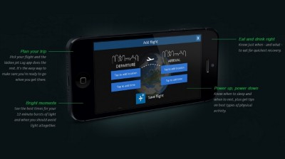 HumanCharger iPhone app for curing jet lag