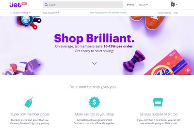 Jet.com online shopping home page