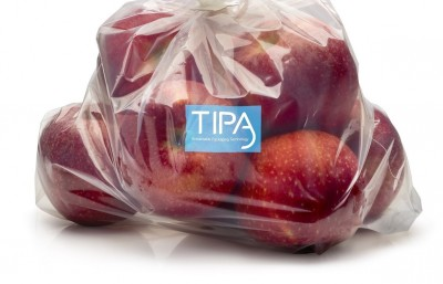 apples packaged in TIPA sustainable packaging