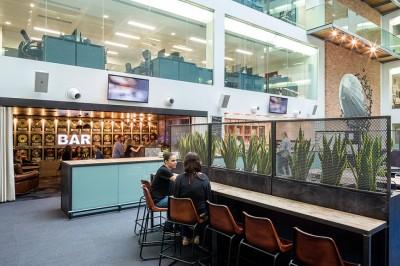 Cool office Warner Music UK has a bar