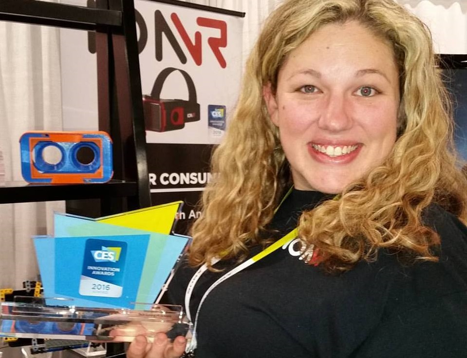 vr device from IonVR receiving Innovation Award at CES 2016