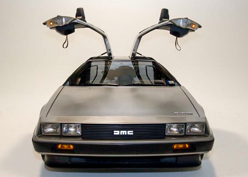 DeLorean, made famous by Back to the Future
