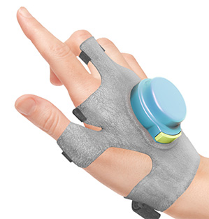 GryoGlove steadies hand of Parkinson's Patient