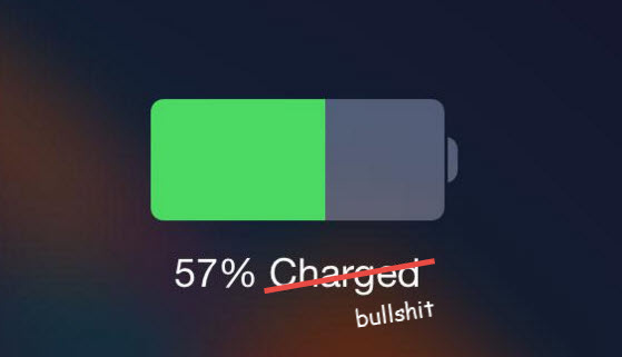 incorrect Apple iPhone battery meter