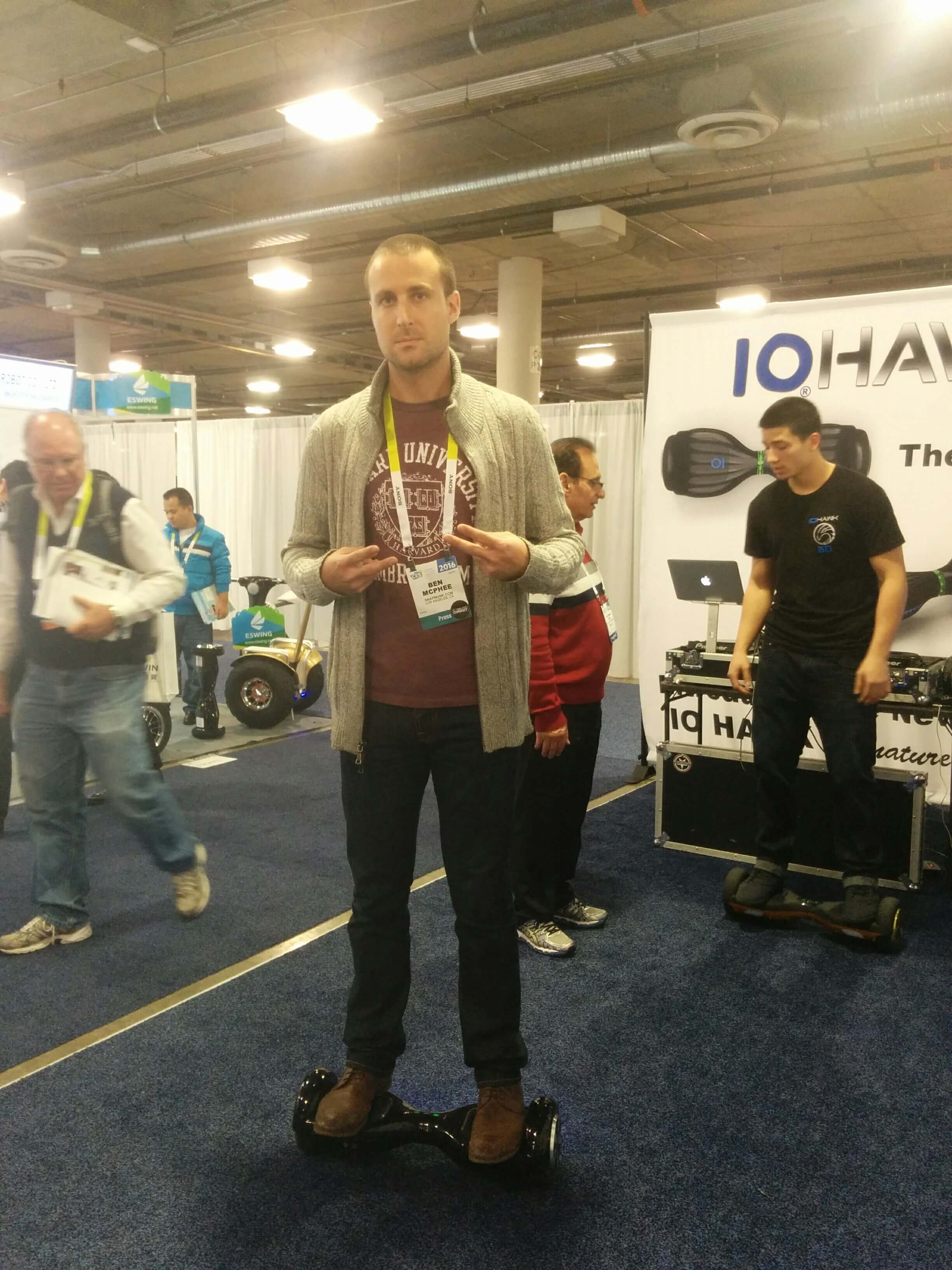 Benjamin Mann on IO Hawk hoverboard at CES 2016
