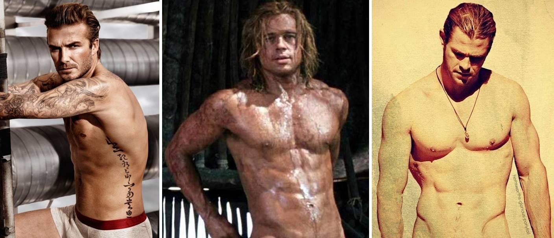 Chris Hemsworth, Brad Pitt, and David Beckham