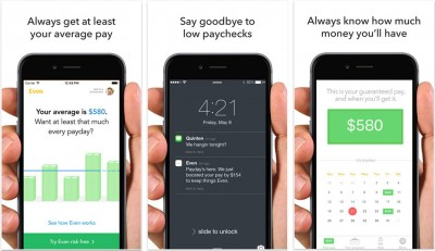 Screens from Even, the app that replaces payday loans