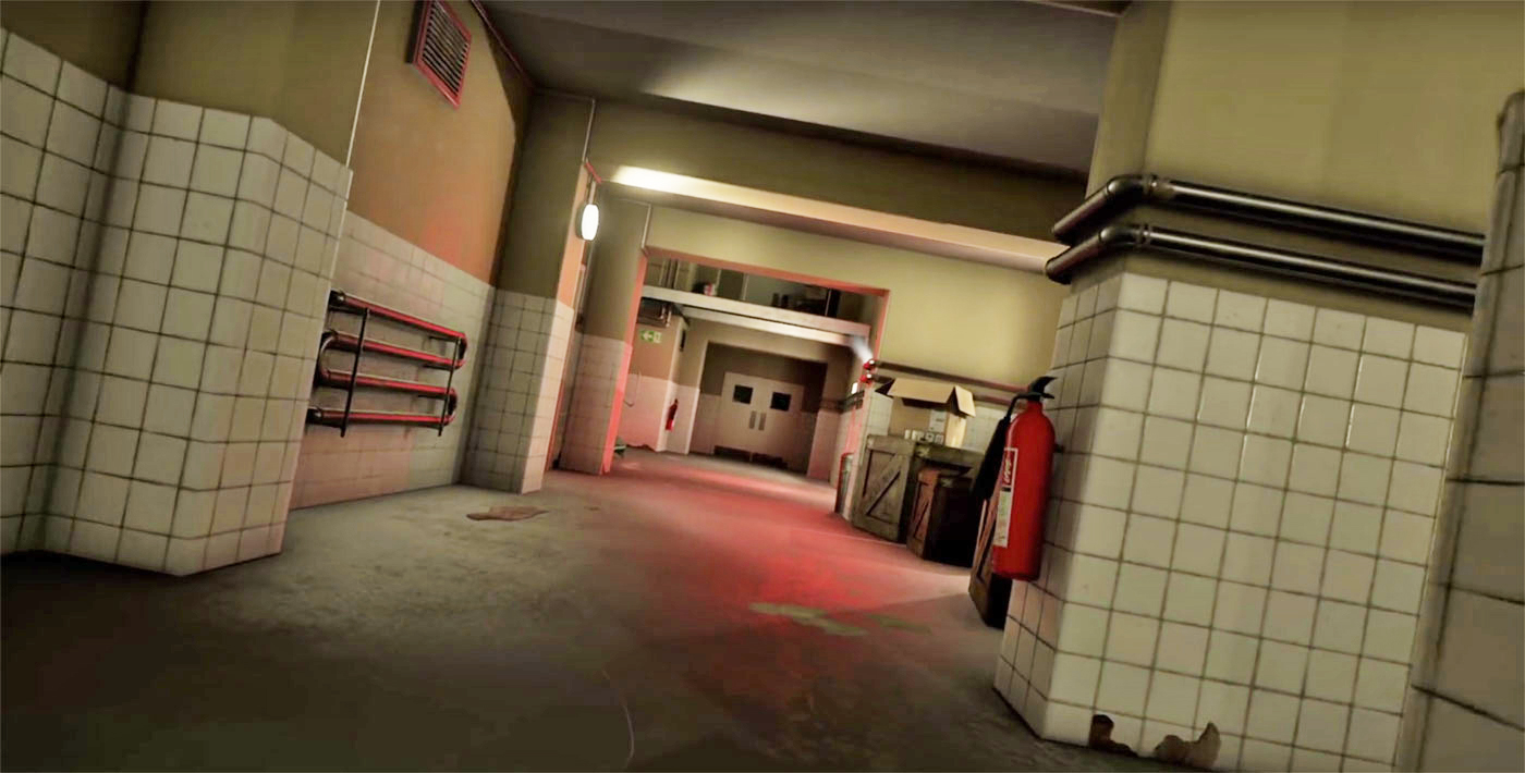 hallway from 007 Golden Eye recreated on the Unreal Engine 4