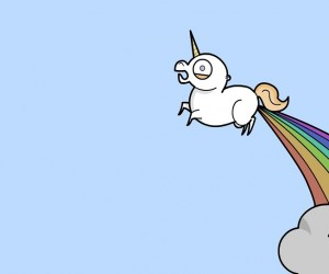 unicorn farting rainbow