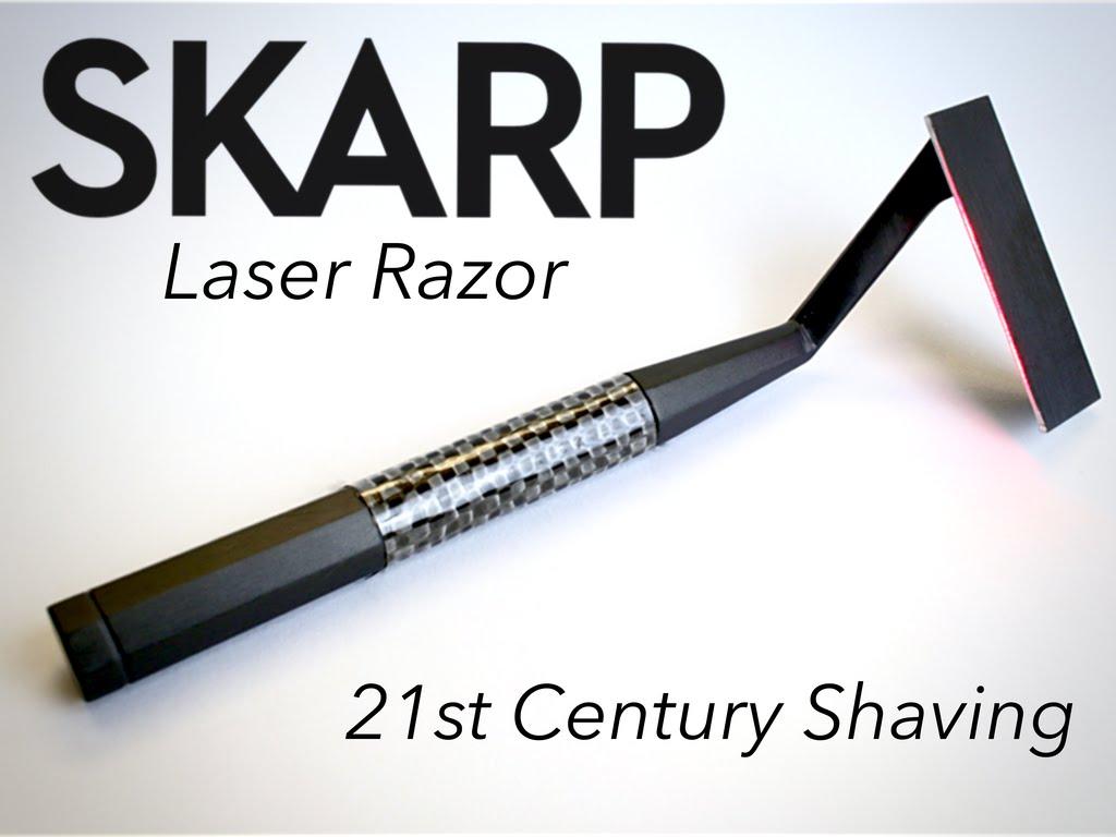 Skarp laser razor from Kickstarter crowdfunding site