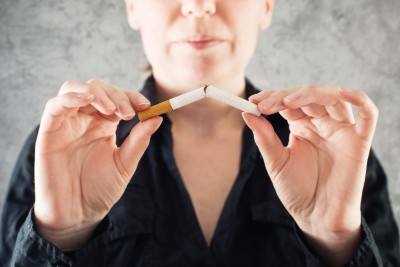 person trying to quit smoking