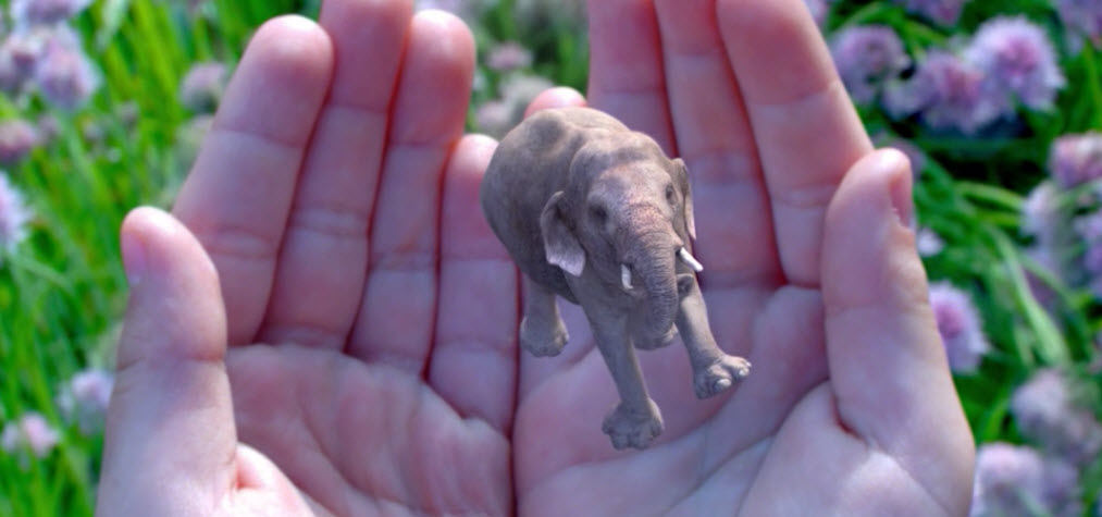 augmented reality by magic leap puts elephant in palm of hands