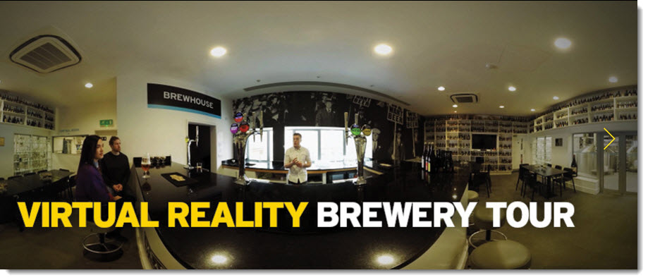 virtual reality brewery tour