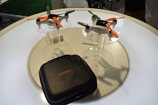 mini drones on display at CES 2016