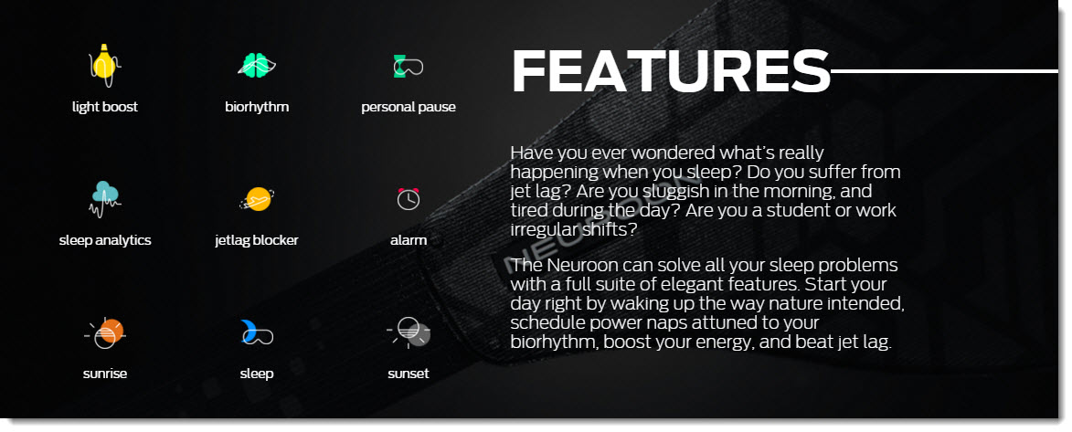 Neuroon smart sleep mask features