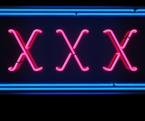 XXX sign marking smart sex toys