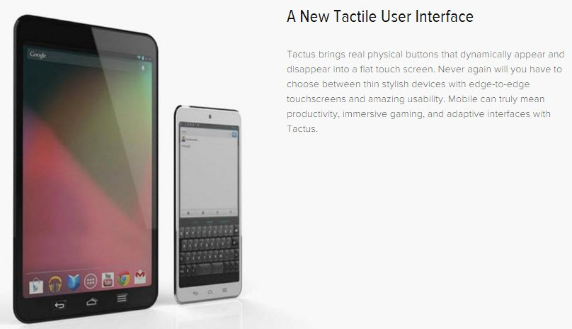 Tactus Technology offers A New Tactile User Interface