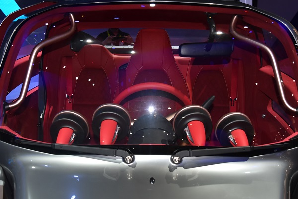 Interior of Toyota concept car