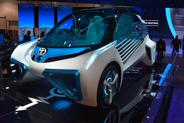 silver Toyota Concept Car
