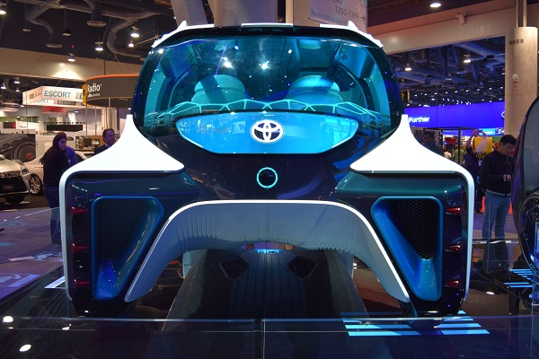 front end of Toyota concept car
