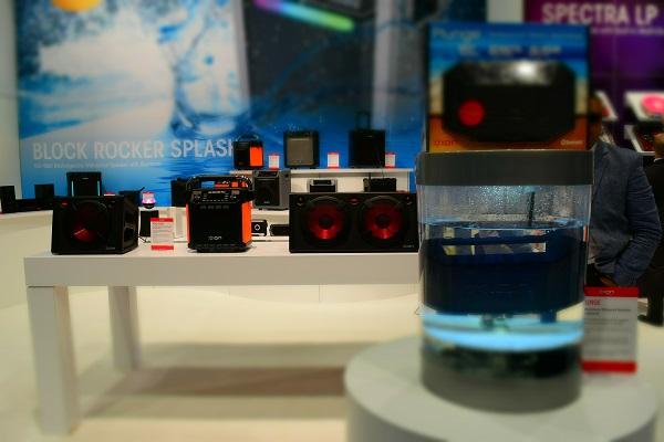 underwater speaker on display at CES 2016