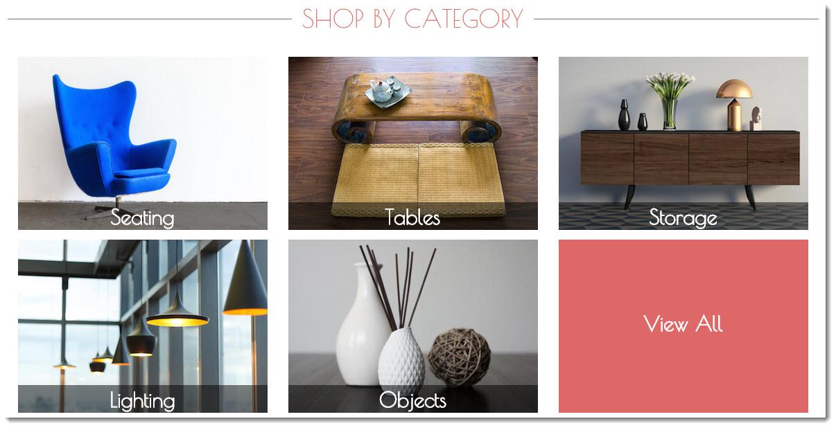 Vinterior luxury furniture categories