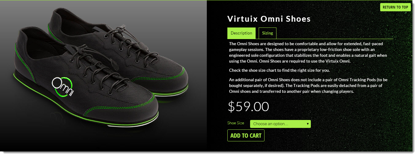 virtual reality shoes omni