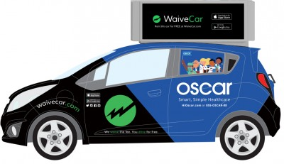 car sharing auto with ads from WaiveCar