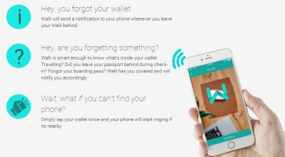 Walli smart wallet prevents lost wallets