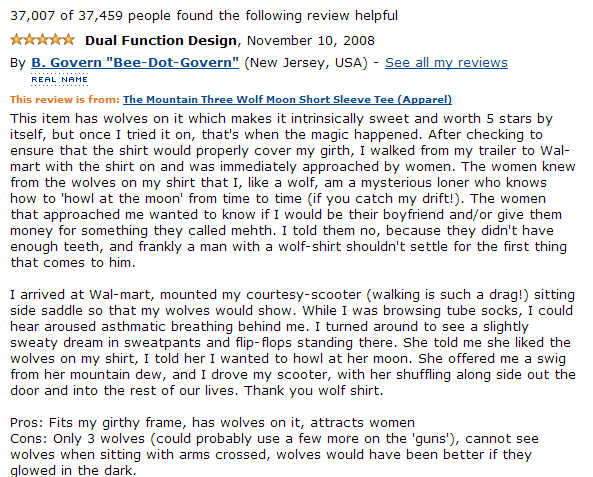funny Amazon review