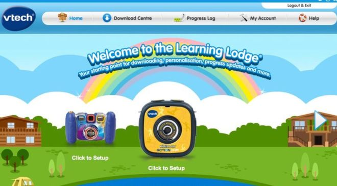 vTech website that had security breach