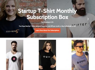 StartupT ShirtMonthlySubscriptionBox