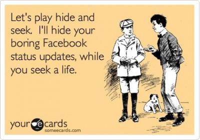 lame facebook updates
