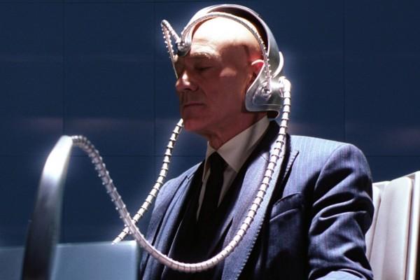 man wearing mind reading device