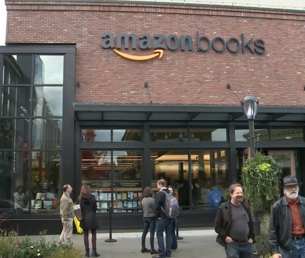 Amazon Books storefront as rumored in tech news
