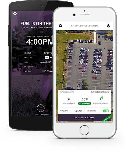 Booster app to refill your car with gas