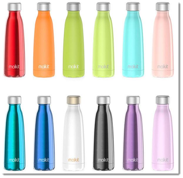 Seed smart water bottles in various colors