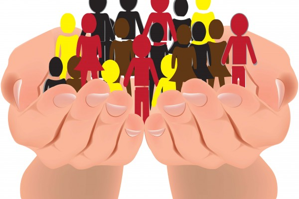 hands holding people of diversity