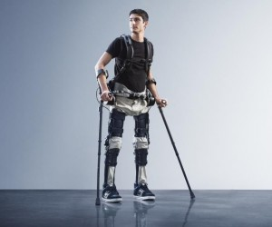 SuitX exoskeleton helping paraplegic walk again