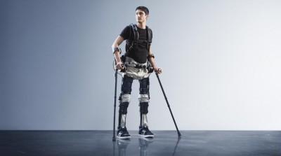 SuitX exoskeleton helping paraplegic walk again