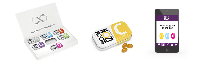 customized vitamins box from Bloomizon