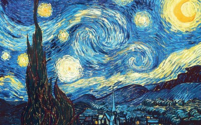 van Gogh's Starry Night digitally reproduced by Holst